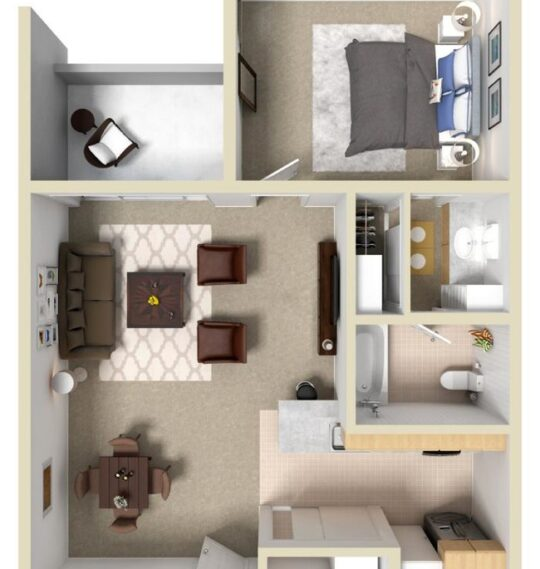 1 Bedroom Platinum Apartment